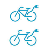 Electric bicycle icons — Stock Photo