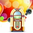 Vector de stock : Classic juke box