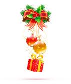 Composición decorativa de la navidad — Vector de stock
