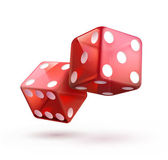 Shiny red dices — Vector de stock