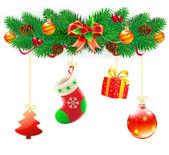 Jul dekorativa sammansättning — Stockvektor