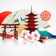 Decorative Traditional Japanese background — Stock Vector