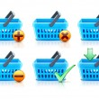 Shopping baskets set — Stock Photo #9245302