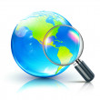 Global search concept — Stock Photo