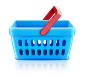 Shopping basket set — 图库照片