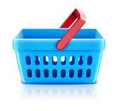 Zakupy koszyka zestaw — Zdjęcie stockowe