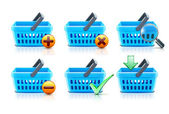 Shopping baskets set — Stock Photo