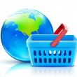 Global shopping concept — Stock Photo