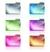 Ikony složek — Stock fotografie