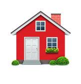 иконка дом — Cтоковый вектор