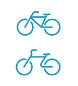 Iconos de bicicleta simple — Vector de stock