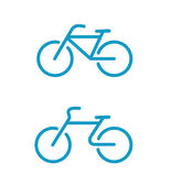 Iconos de bicicleta simple — Vector de stock