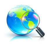 Concepto de búsqueda global — Vector de stock
