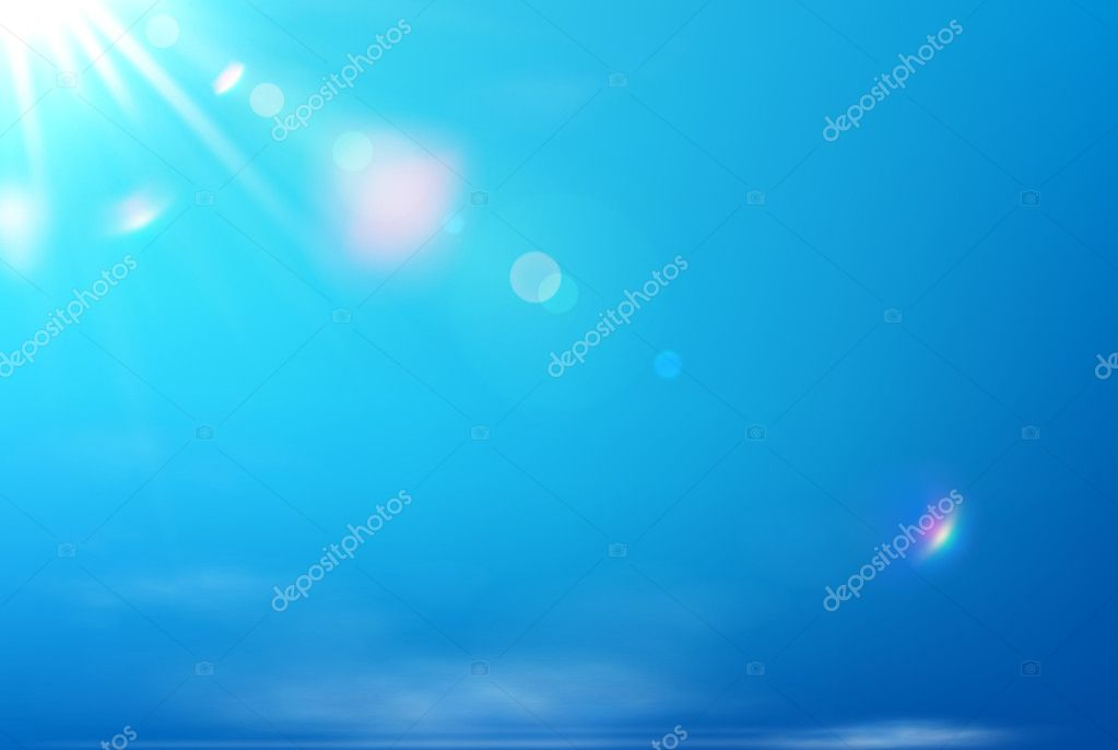 Vector illustration of soft blue abstract background  Stock Vector #9919529