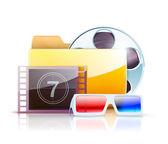 Digital video folder — Stock Vector