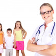 Doctor and family with children — Stock Photo #10028570