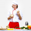 Portrait of a young cook in uniform — Stock Photo #10028671