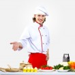 Portrait of a young cook in uniform — Stock Photo #10028675