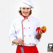 Portrait of a young cook in uniform — Stock Photo #10028676