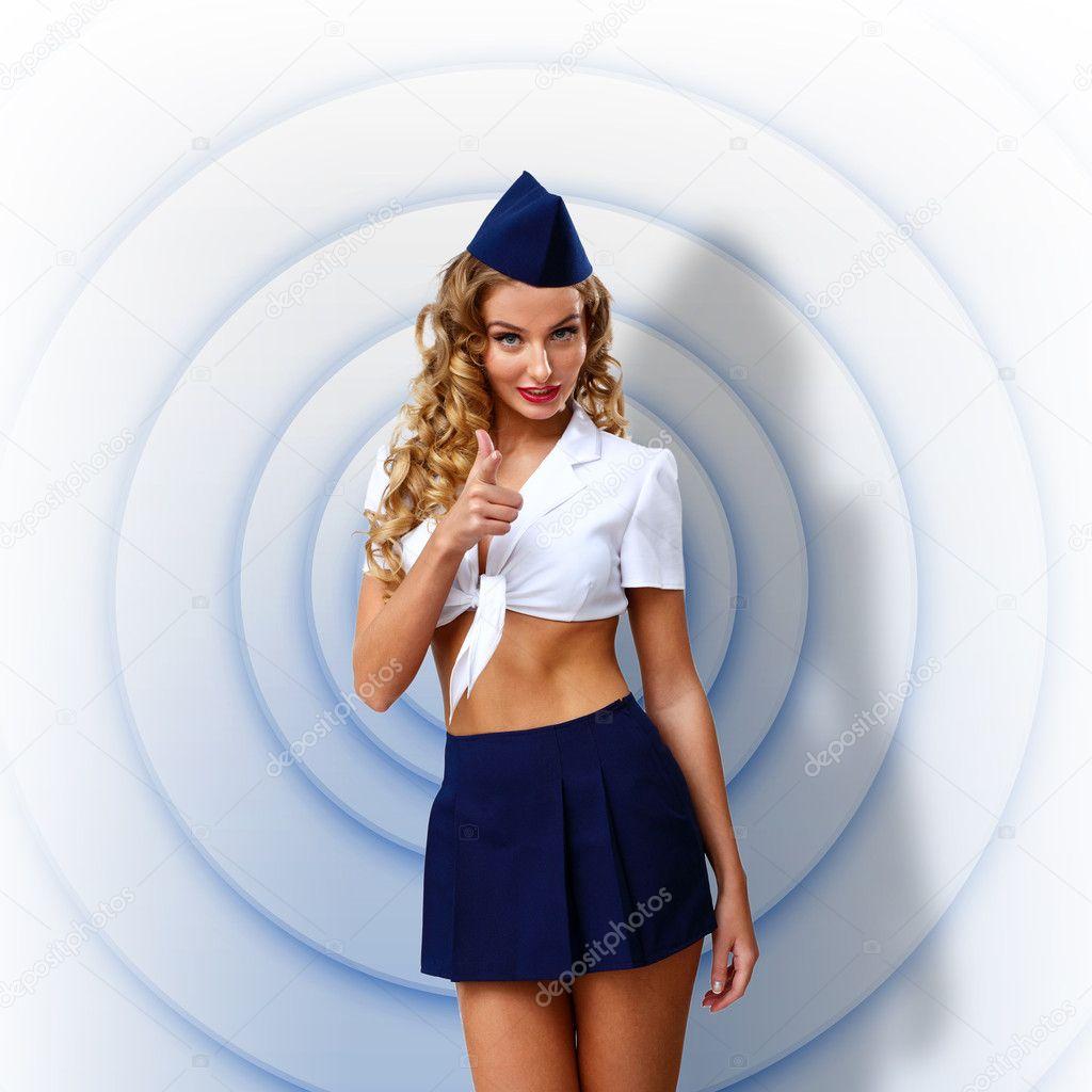 Сексуальные девушки в форме пилота 17 фотография