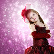 Little girl dressed up in beautiful dress — Stockfoto #10063574