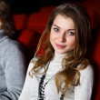 Young couple in cinema watching movie — Stock Photo #10064767