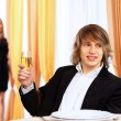 Young handsome man sitting in restaurant - Foto de Stock