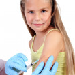 Doctor doing vaccine injection to child — Stock Photo #10066118