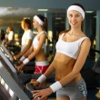 Young woman doing sport in gym — Stock Photo #10066137