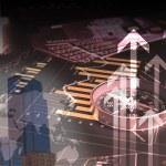 FInancial diagrams, charts and graphs — Stock Photo #10066854