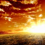 Rural landscape and shining sun — Stock Photo #10066965