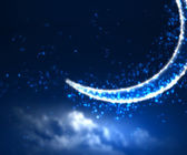 Night sky background with moon and stars — Foto de Stock