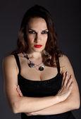 Студия портрет молодая красивая женщина — Стоковое фото
