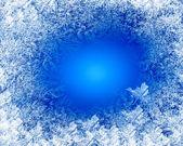 与白色的雪花冬天背景 — 图库照片