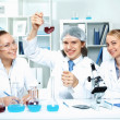 Young scientists working in laboratory — Stock Photo #10127816
