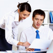 Two young business collegue in office — Stock Photo #10129002