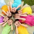 Group of children in the park — Stock Photo #10129119