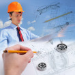 Construction industry collage — Stock Photo #10129241