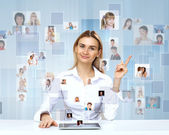Businesswoman making presentation — Stock Photo
