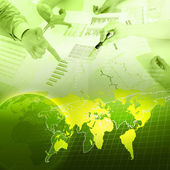 бизнес диаграмм и графиков — Стоковое фото