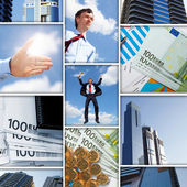Financial and business charts and graphs — Stock Photo