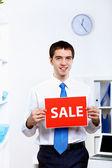 Jovem empresário no escritório — Fotografia Stock