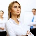 Ritratto di una donna d'affari in ufficio — Foto Stock
