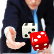 Dice as symbol of risk and luck — Stock Photo