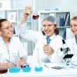 Young scientists working in laboratory — Stock Photo #10260655