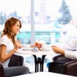 Young couple having a date in restaurant — Stock Photo #10260847
