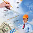 Construction industry collage — Stock Photo #10261079