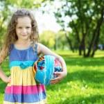 Little girl in summer park — Stock Photo #10261253