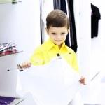 Little boy doing shopping — Stock Photo #10261314
