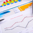 Graphs, charts, business table. — Stock Photo